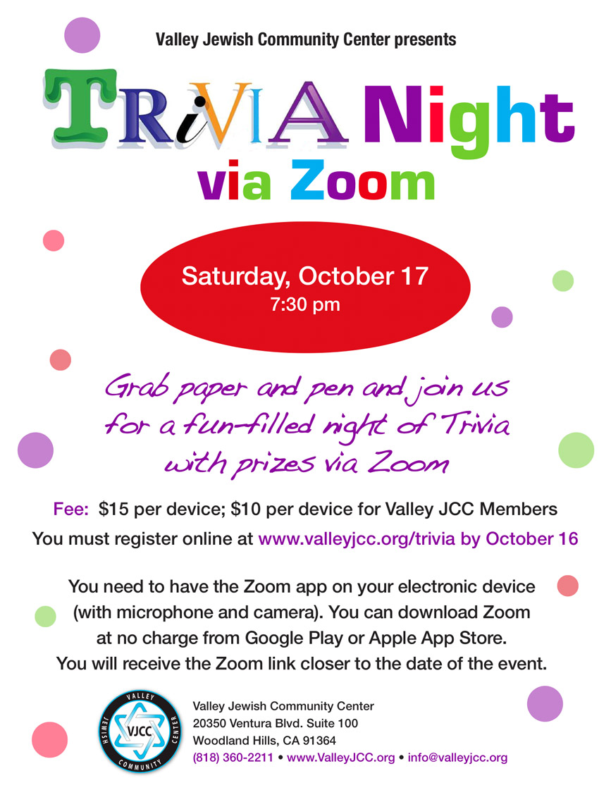 Trivia Night via Zoom
